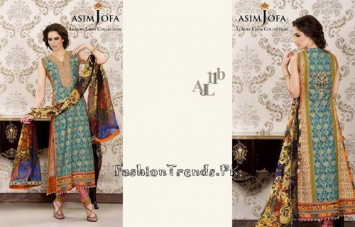 Asim Jofa Luxury Lawn Collection 2015 (9)