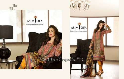Asim Jofa Luxury Lawn Collection 2015 (10)