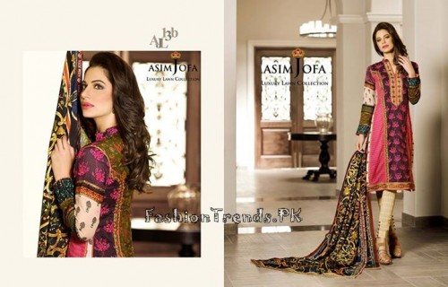 Asim Jofa Luxury Lawn Collection 2015 (19)
