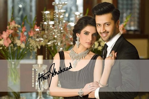 Atif Aslam And Saeeda Imtiaz Photoshoot For Damas Jewelers (3)