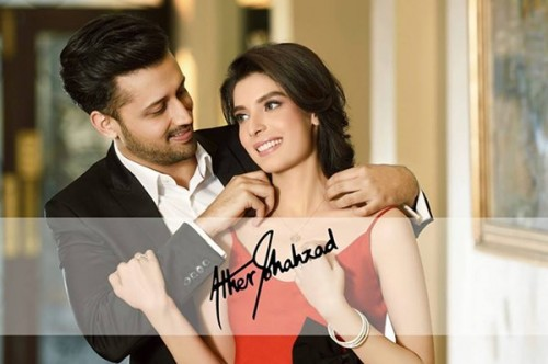 Atif Aslam And Saeeda Imtiaz Photoshoot For Damas Jewelers (4)