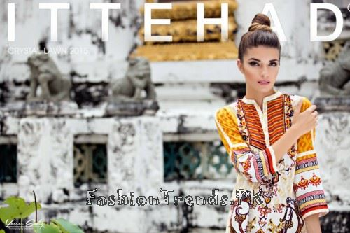 Ittehad Textiles Crystal Lawn Collection 2015 (1)