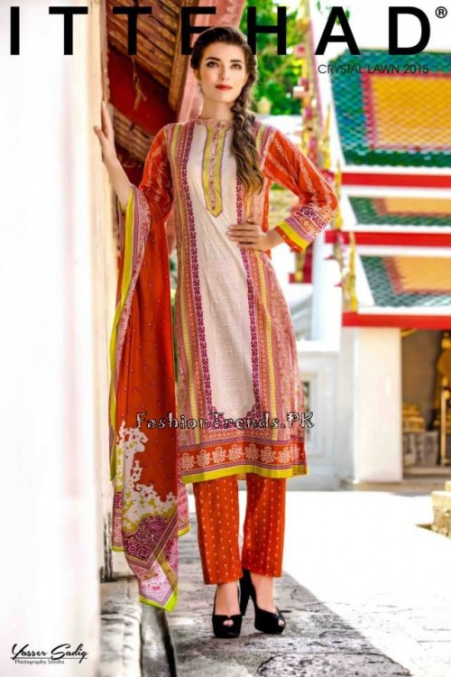 Ittehad Textiles Crystal Lawn Collection 2015 (2)