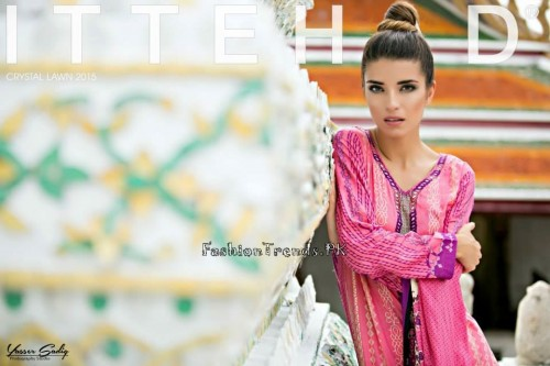 Ittehad Textiles Crystal Lawn Collection 2015 (3)