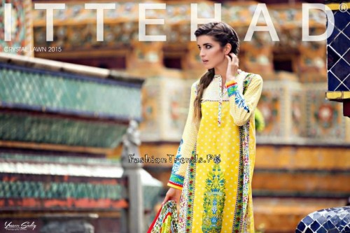 Ittehad Textiles Crystal Lawn Collection 2015 (5)