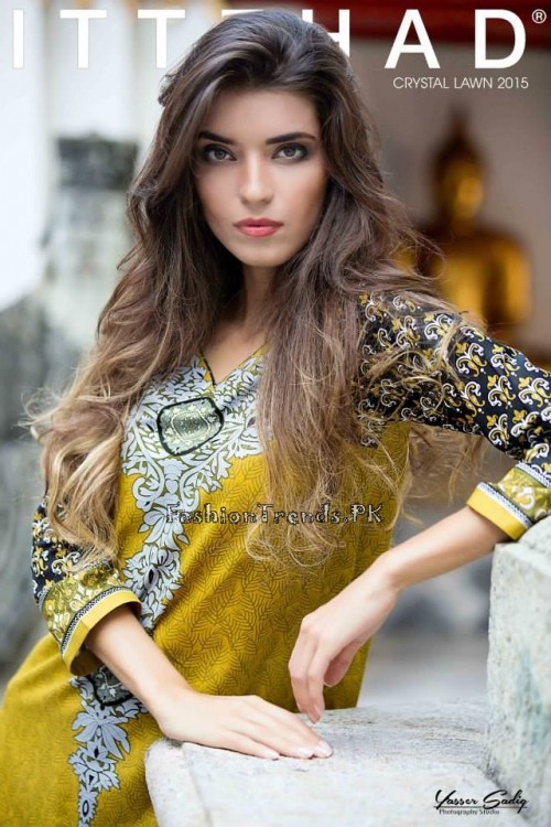 Ittehad Textiles Crystal Lawn Collection 2015 (10)