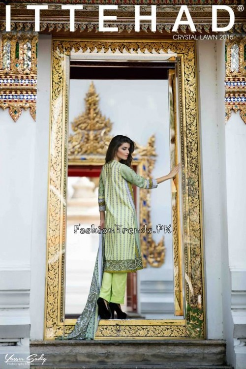 Ittehad Textiles Crystal Lawn Collection 2015 (11)