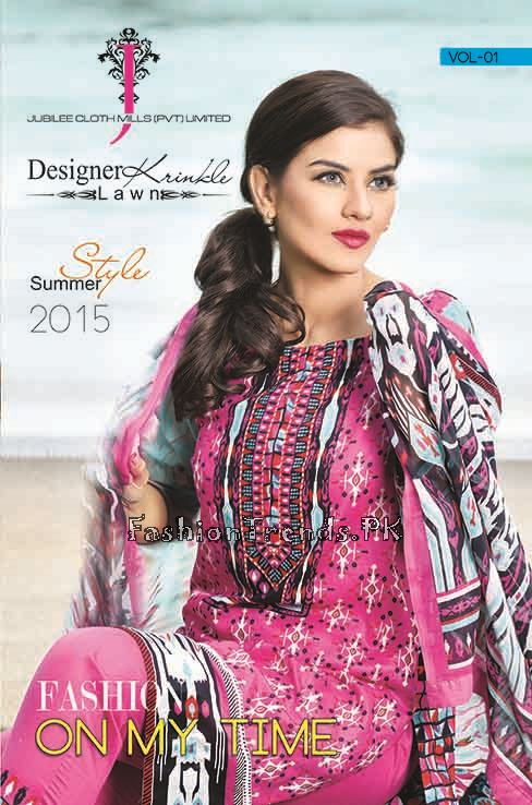 Jublee Cloth Mills Krinkle Lawn Collection 2015 (1)