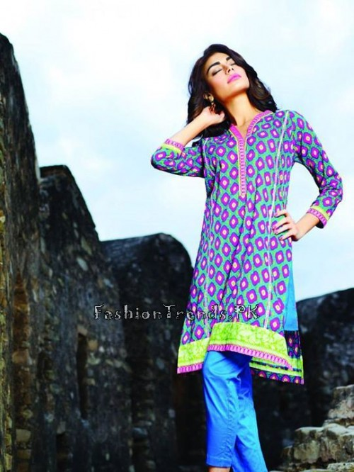 Khaadi Lawn Volume 2 Collection 2015 (16)