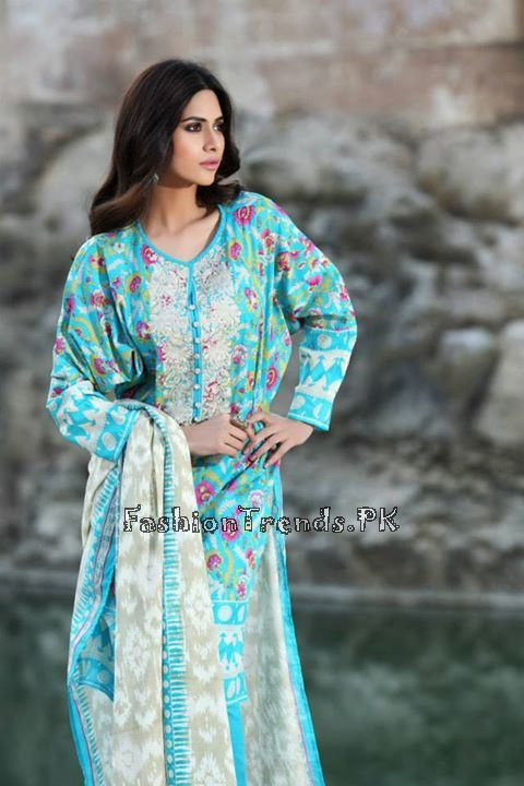 Khaadi Lawn Volume 2 Collection 2015 (38)