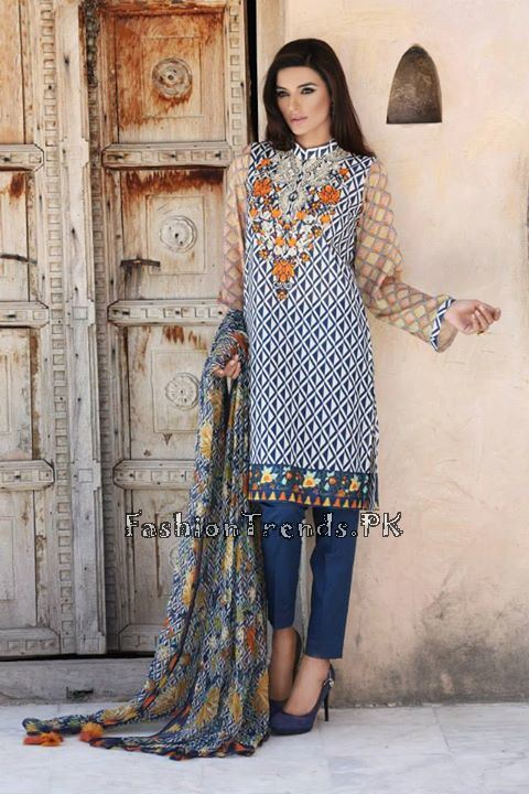 Khaadi Lawn Volume 2 Collection 2015 (59)