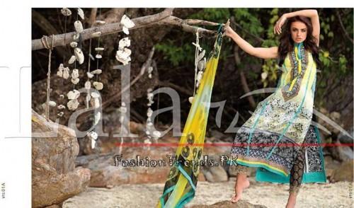 Lala Vintage Summer Lawn Dresses 2015 (1)