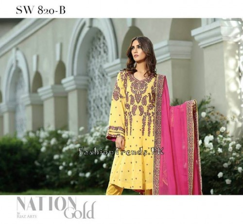 Nation By Riaz Arts Vol 1 Summer Collection 2015 (18)