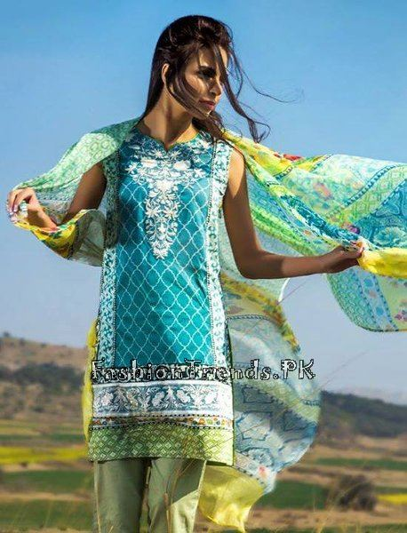 Pareesa Lawn Collection 2015 By Chen One (15)