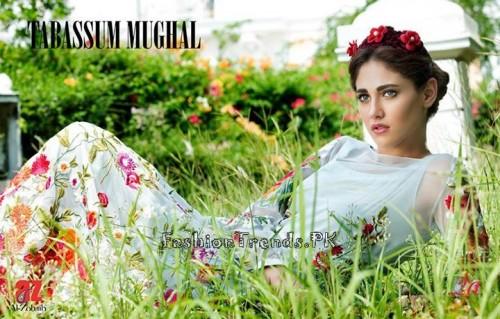 Tabassum Mughal Lawn Dresses 2015 (6)