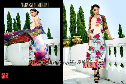 Tabassum Mughal Lawn Dresses 2015 (19)