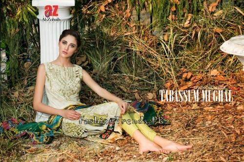 Tabassum Mughal Lawn Dresses 2015 (32)