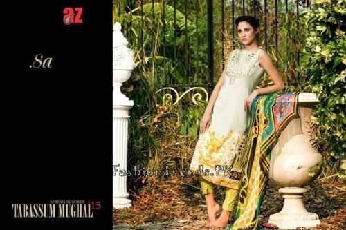 Tabassum Mughal Lawn Dresses 2015 (33)