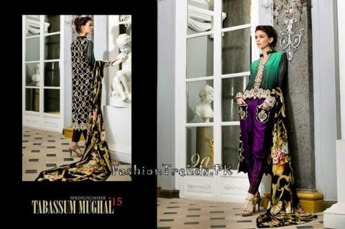 Tabassum Mughal Lawn Dresses 2015 (38)