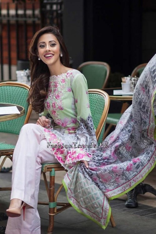 Farah Talib Aziz Lawn Collection 2015 (2)