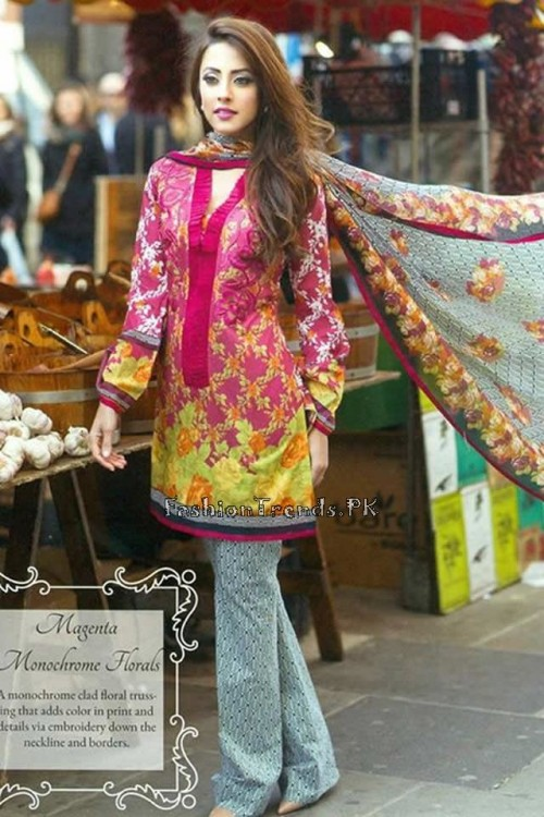Farah Talib Aziz Lawn Collection 2015 (4)