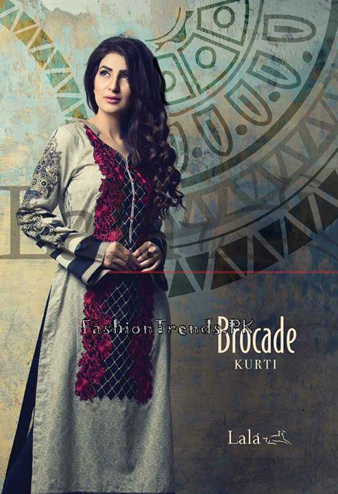 Lala Brocade Kurti Collection 2015 (1)