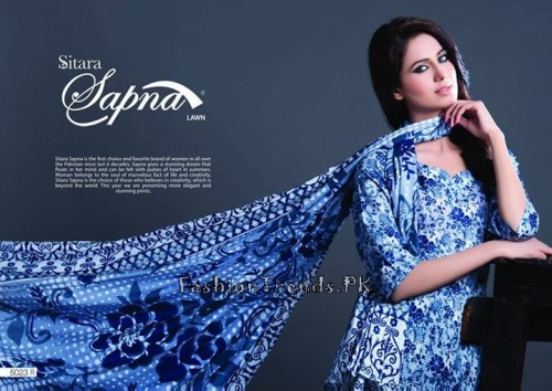 Sitara Textiles Sapna Lawn Collection 2015 (2)