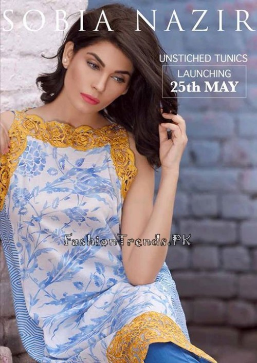 Sobia Nazir Unstiched Tunic Collection 2015 (1)