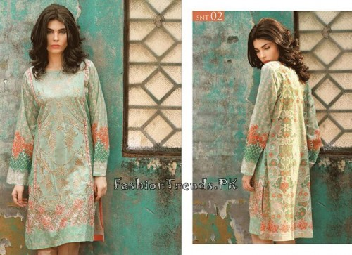 Sobia Nazir Unstiched Tunic Collection 2015 (5)