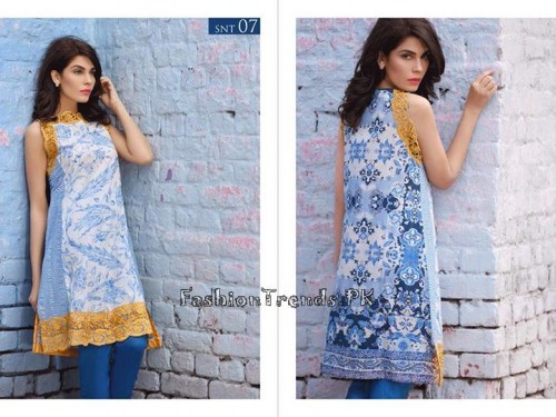 Sobia Nazir Unstiched Tunic Collection 2015 (15)
