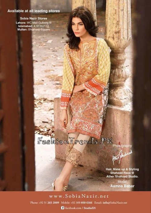 Sobia Nazir Unstiched Tunic Collection 2015 (22)