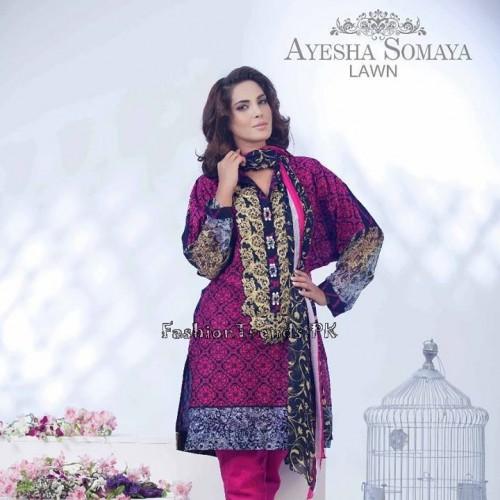 Ayesha Somaiya Eid Lawn Dresses 2015 by Flitz (11)