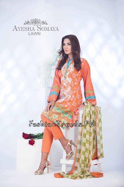 Ayesha Somaiya Eid Lawn Dresses 2015 by Flitz (18)
