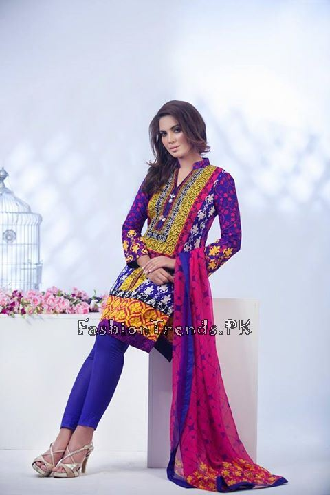 Ayesha Somaiya Eid Lawn Dresses 2015 by Flitz (19)