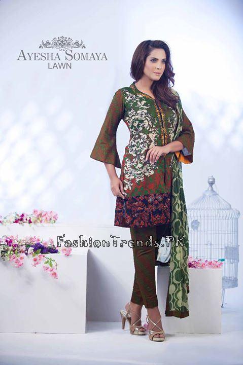 Ayesha Somaiya Eid Lawn Dresses 2015 by Flitz (21)