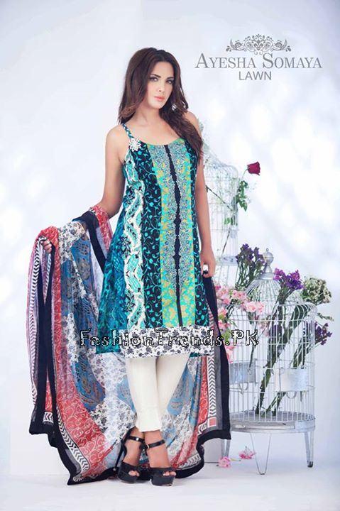 Ayesha Somaiya Eid Lawn Dresses 2015 by Flitz (22)
