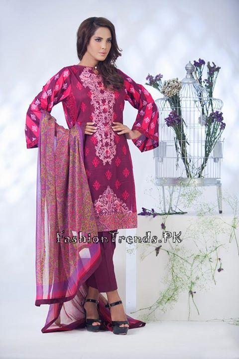 Ayesha Somaiya Eid Lawn Dresses 2015 by Flitz (4)