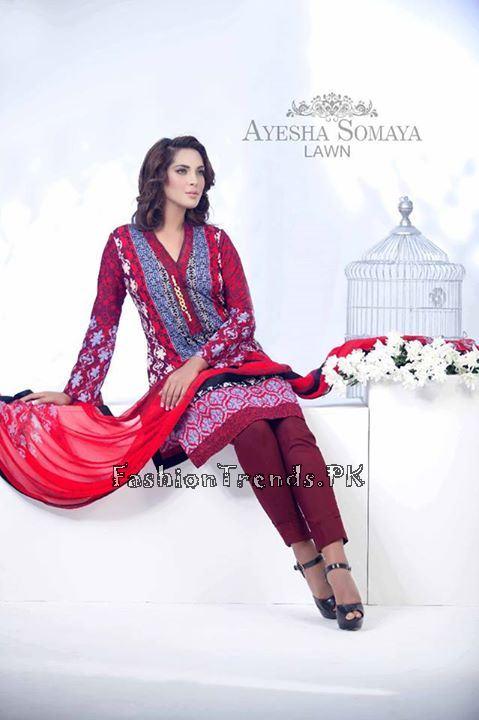 Ayesha Somaiya Eid Lawn Dresses 2015 by Flitz (5)