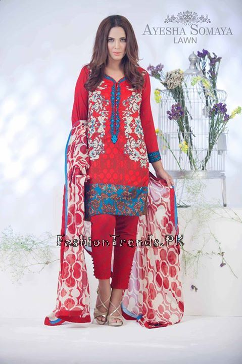 Ayesha Somaiya Eid Lawn Dresses 2015 by Flitz (6)