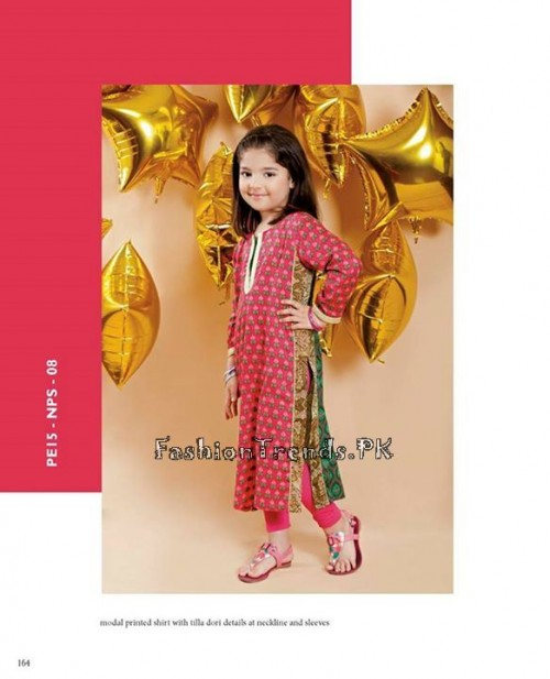 Naqsh By Nishat Linen Eid Collection 2015 For Kids (15)