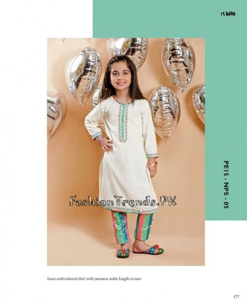 Naqsh By Nishat Linen Eid Collection 2015 For Kids (16)