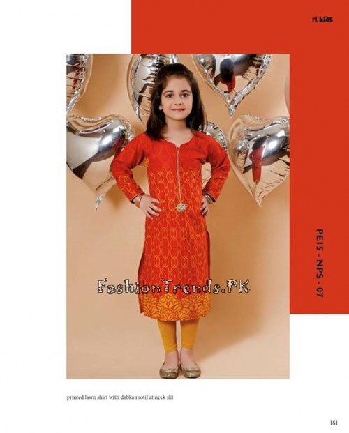 Naqsh By Nishat Linen Eid Collection 2015 For Kids (18)