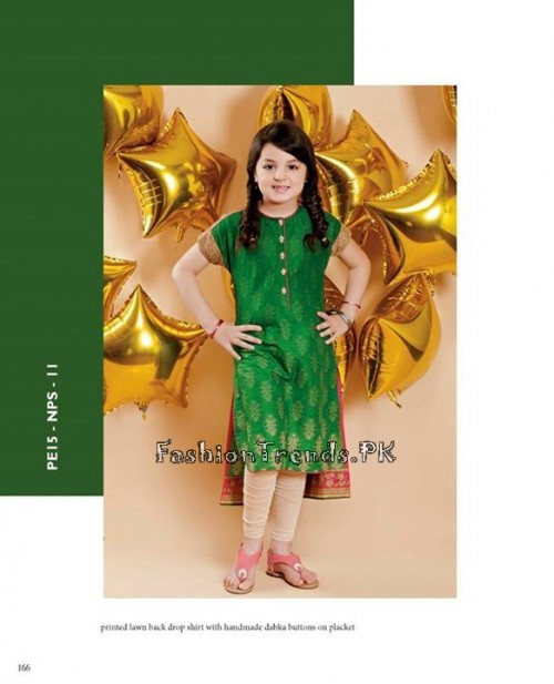 Naqsh By Nishat Linen Eid Collection 2015 For Kids (3)