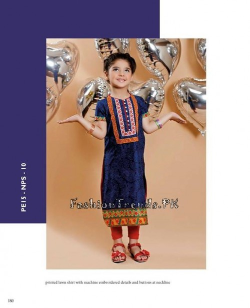 Naqsh By Nishat Linen Eid Collection 2015 For Kids (4)
