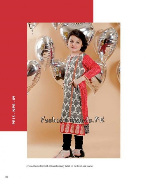 Naqsh By Nishat Linen Eid Collection 2015 For Kids (8)