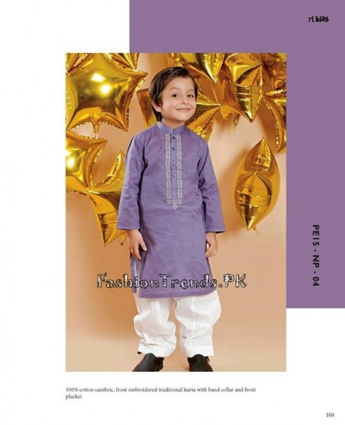 Naqsh By Nishat Linen Eid Collection 2015 For Kids (9)
