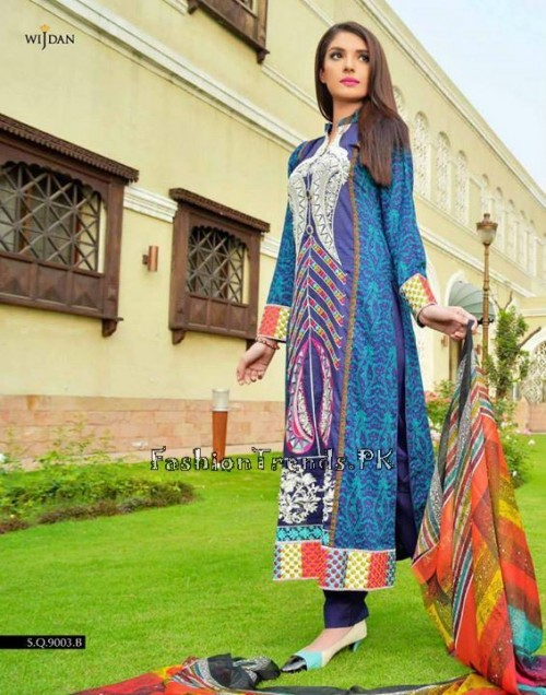 Wijdan Summer Collection 2015 Vol 2 by Salam Textile (8)