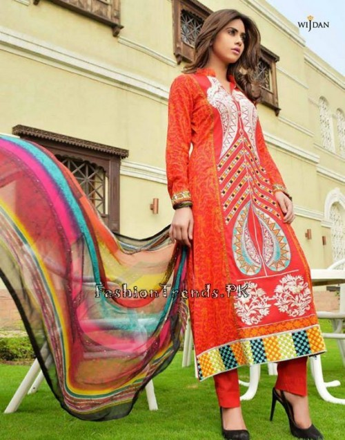 Wijdan Summer Collection 2015 Vol 2 by Salam Textile (10)