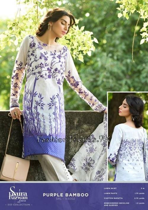 Saira Rizwan Eid Lawn Dresses 2015 (2)