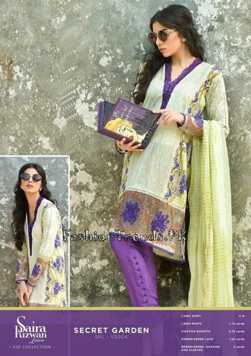 Saira Rizwan Eid Lawn Dresses 2015 (3)